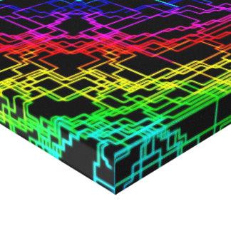 Modelo geométrico del multicolor en healinglove ne impresiones en lienzo estiradas