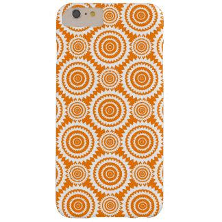 Modelo geométrico del naranja y blanco de los funda de iPhone 6 plus barely there