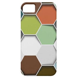 Modelo geométrico del peine de la miel iPhone 5 cárcasa