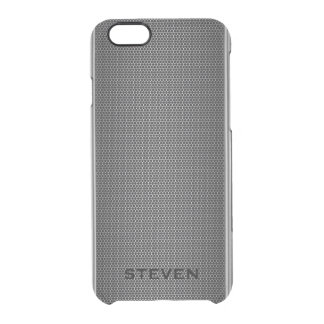 Modelo geométrico del puré metálico funda clear para iPhone 6/6S