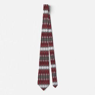 Modelo geométrico del rojo, negro y gris corbata