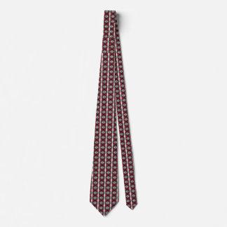Modelo geométrico del rojo, negro y gris pequeño corbata