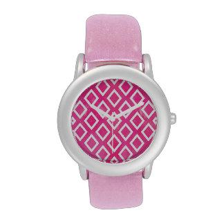Modelo geométrico del rosa de la forma reloj de mano