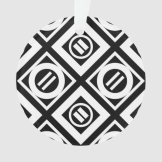 Modelo geométrico del signo de igualdad del blanco