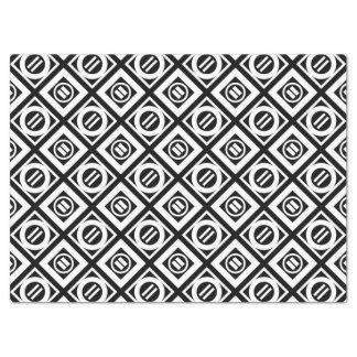 Modelo geométrico del signo de igualdad del blanco papel de seda grande