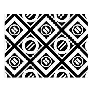 Modelo geométrico del signo de igualdad del blanco postales