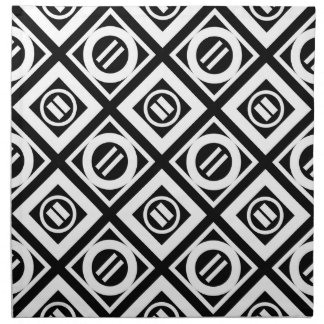 Modelo geométrico del signo de igualdad del blanco servilletas imprimidas