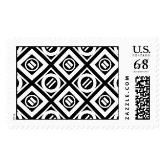 Modelo geométrico del signo de igualdad del blanco timbres postales