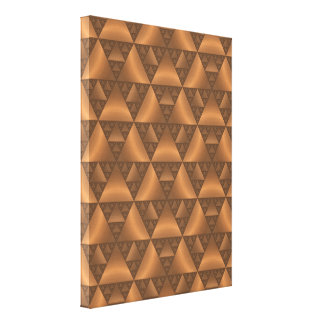 Modelo geométrico del triángulo del tono de Brown Impresiones En Lienzo Estiradas