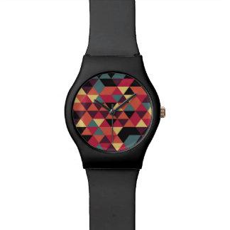 Modelo geométrico del triángulo relojes de mano