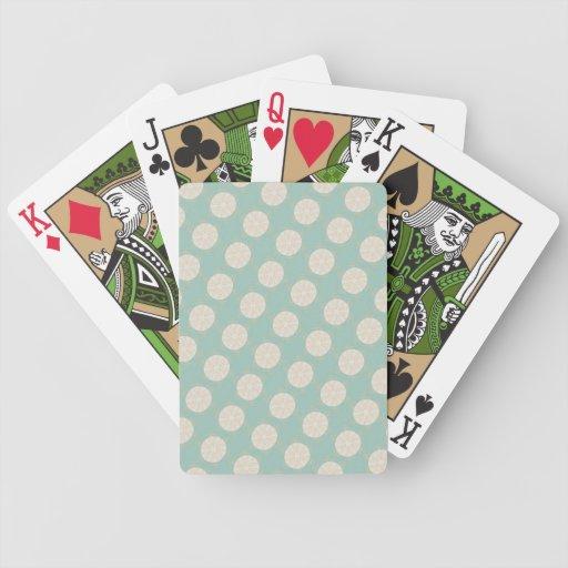 Modelo geométrico del vintage retro - personalice barajas de cartas