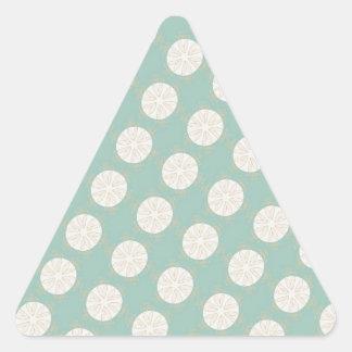 Modelo geométrico del vintage retro - personalice pegatina triangular