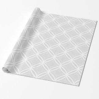 Modelo geométrico elegante del enrejado gris y papel de regalo