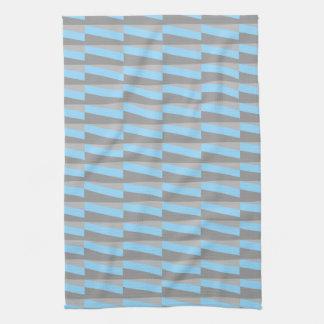 Modelo geométrico en azul y gris frescos toallas