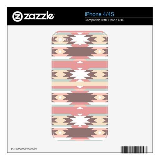 Modelo geométrico en el estilo azteca 2 skin para el iPhone 4S