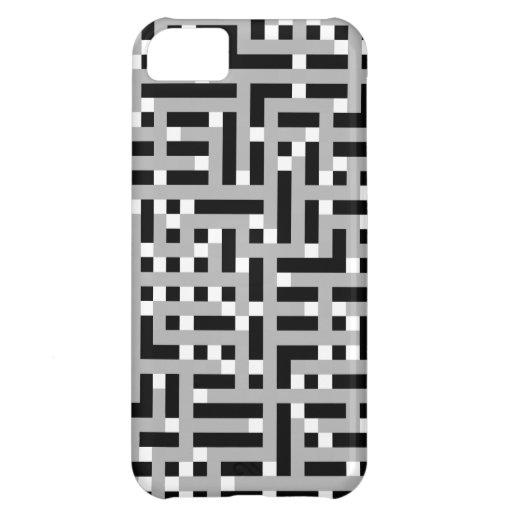 Modelo geométrico en el gris, blanco y negro. funda para iPhone 5C