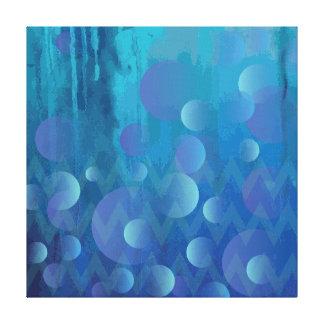 Modelo geométrico enrrollado azul fresco del lienzo envuelto para galerias