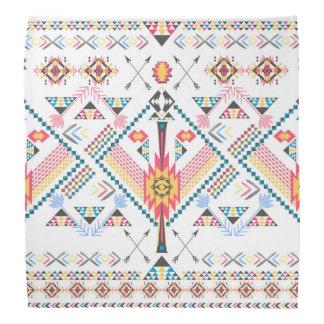 Modelo geométrico étnico tribal de moda fresco bandanas