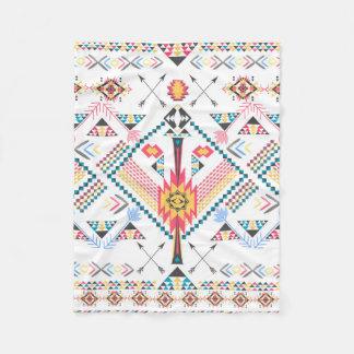 Modelo geométrico étnico tribal de moda fresco manta de forro polar