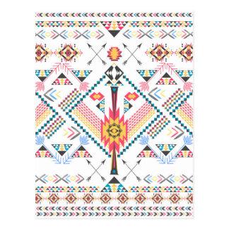 Modelo geométrico étnico tribal de moda fresco postales