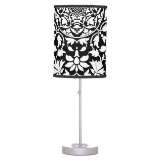 Modelo geométrico floral blanco y negro indio