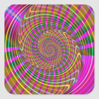 Modelo geométrico fresco del fractal de la pegatina cuadrada