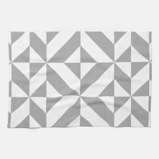 Modelo geométrico gris caliente del cubo de Deco Toalla De Mano