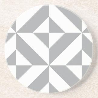 Modelo geométrico gris caliente del cubo de Deco Posavasos Cerveza