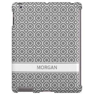 modelo geométrico gris conocido de encargo del iPa Funda Para iPad