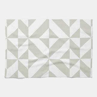 Modelo geométrico gris medio del cubo de Deco Toalla De Mano