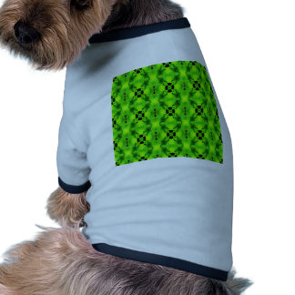 modelo geométrico inconsútil verde camisa de perro