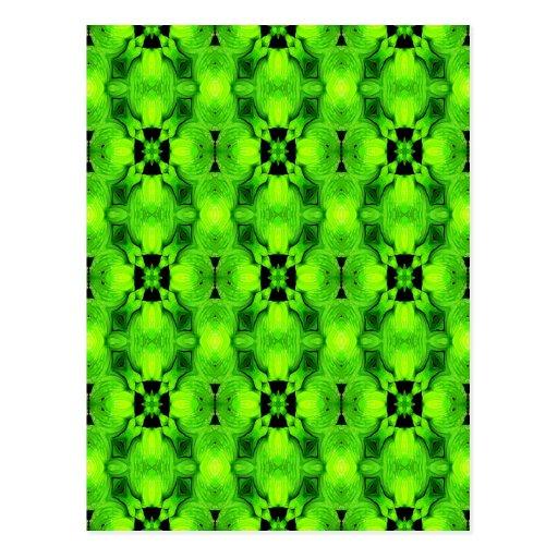 modelo geométrico inconsútil verde tarjeta postal