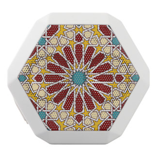 Modelo geométrico islámico altavoces bluetooth blancos boombot REX