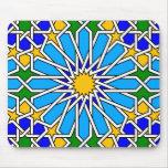 Modelo geométrico islámico Mousepad Alfombrilla De Ratón