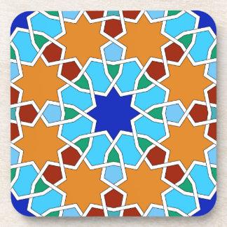 Modelo geométrico islámico posavasos de bebida