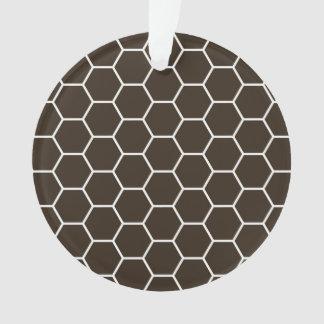 Modelo geométrico marrón del hexágono