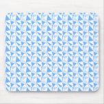 Modelo geométrico moderno blanco y azul tapetes de raton