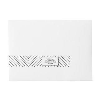 Modelo geométrico moderno de las casillas negras etiquetas envolventes de dirección