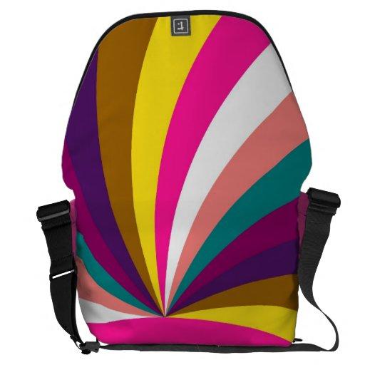 Modelo geométrico moderno de las rayas coloridas r bolsas de mensajería