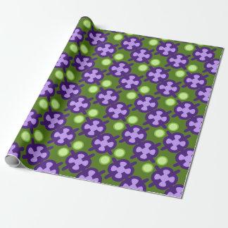 Modelo geométrico moderno, sombras de verde y papel de regalo