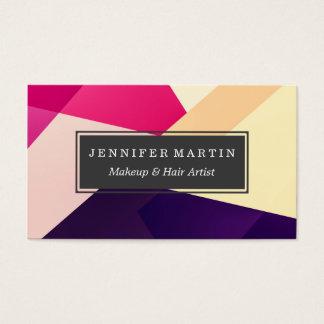 Modelo geométrico negro amarillo rosado moderno tarjeta de negocios
