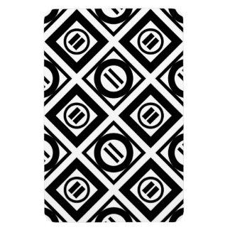 Modelo geométrico negro del signo de igualdad en imán foto rectangular