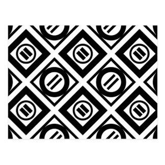 Modelo geométrico negro del signo de igualdad en postales