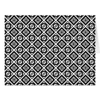Modelo geométrico negro del signo de igualdad en tarjeta de felicitación grande
