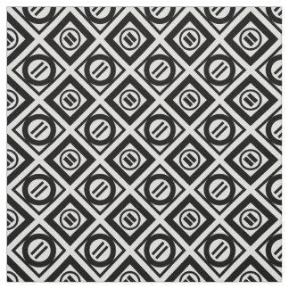 Modelo geométrico negro del signo de igualdad en telas