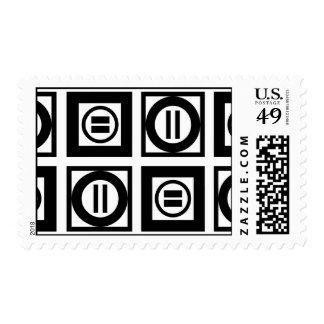 Modelo geométrico negro y blanco del signo de sellos