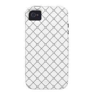 Modelo geométrico negro y blanco Pt78 del smoking iPhone 4 Funda