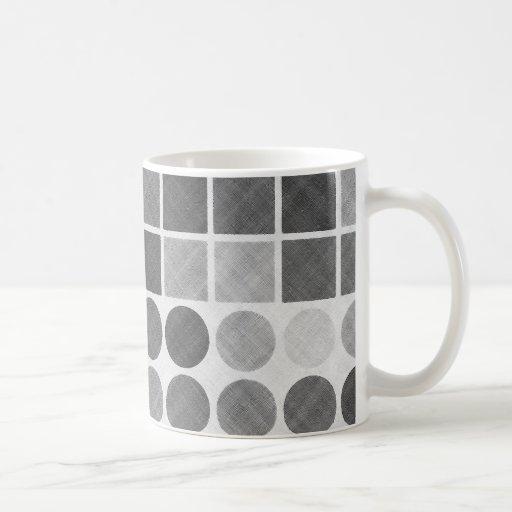 Modelo geométrico negro y blanco retro taza de café