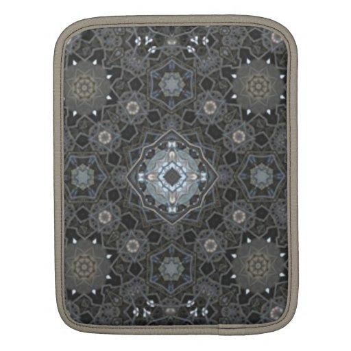 Modelo geométrico negro y gris funda para iPads