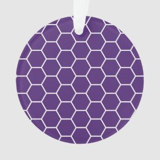 Modelo geométrico púrpura brillante del hexágono d